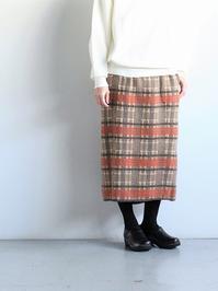 unfilchecked jacaurd mohair silk knit skirt - 『Bumpkins putting on airs』