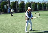 真冬日のシニアテニス - 東金、折々の風景