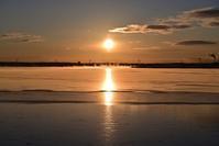 結氷 ~今週のウトナイ湖 - やぁやぁ。