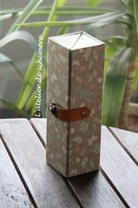 ボックストレイのペンケース - ichimiereカルトナージュと手づくりの時間