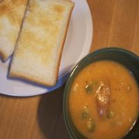 野菜のポタージュと、季節の買い物(御縁餅) - Hanakenhana's Blog