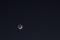 『大接近中の土星と木星』にお月様の共演♪ - happy-cafe*vol.2