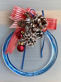 クリスマスリース - 宙吹きガラスの器