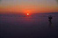 渡良瀬遊水地夜明け - 風の香に誘われて 風景のふぉと缶