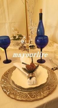 11月テーブルコーディネート&フラワー教室テーブル編 - マユールのひとりごと