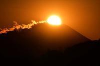 多摩川から見たダイヤモンド富士 - 萩原義弘のすかぶら写真日記