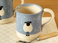 クリスマス限定!雪のひつじのマグカップ - ブルーベルの森-ブログ-英国のハンドメイド陶器と雑貨の通販