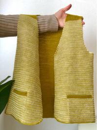 アフガン編みのYネックベスト完成 - セーターが編みたい!