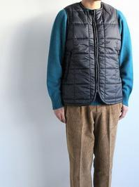 NECESSARY or UNNECESSARY (N.O.UN.) QUILT LONG VEST / BLACK - 『Bumpkins putting on airs』