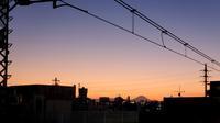 高円寺駅ホームから観た木星&夕富士風景 2020/12/22 in Tokyo - むっちゃんの花鳥風月  ( 鳥・猫・花・空・山 )