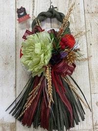 三国ヶ丘公民館レッスンしめ飾り - グリママの花日記