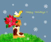Happy Holidays - K e  i  k  o     A  o  i  イ ラ ス ト 日 記