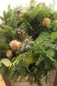 joyeux Noëlメリークリスマス - お花に囲まれて