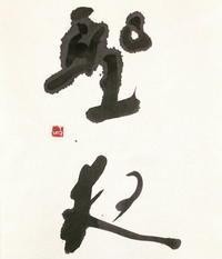 ありゃ、イヴ「夜」 - 筆文字・商業書道・今日の一文字・書画作品<札幌描き屋工山>