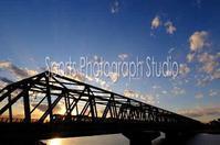 散歩の途中でJR江戸川鉄橋 - スポーツカメラマン国分智の散歩の途中で