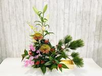 お正月のアレンジメント☆ - Flower Days ~yucco*のフラワーレッスン&プリザーブドフラワー~