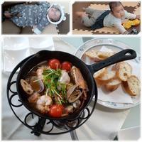 長男家族にアヒージョ&焼肉で楽しんでもらう♪ - 気ままな食いしん坊日記2
