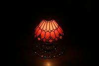 生徒さんのアンティークな小ランプ完成 - ステンドグラスルーチェの日常