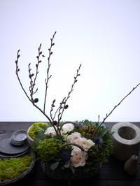 コーヒー豆屋さんのオープンにアレンジメント。「白~グリーン系、ナチュラル」。2020/10/25。 - 札幌 花屋 meLL flowers