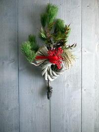 お正月飾り玄関ドア用。大曲にお届け。2020/12/26。 - 札幌 花屋 meLL flowers