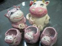 ■牛のつまようじ入れ■ - ちょこっと陶芸