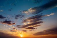夕焼け雲g9 - 雲空海