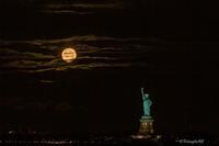 Cold Moon & Lady Liberty 2020 - Triangle NY