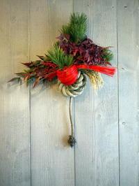 お正月飾り。玄関ドアタイプ。西24にお届け。2020/12/29。 - 札幌 花屋 meLL flowers