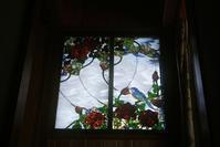 薔薇と鳥のパネルお客様宅へ - ステンドグラスルーチェの日常