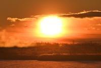 日の出ショー @ ウトナイ湖2021.1.2 - やぁやぁ。