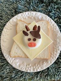 年の始めに・・牛さんの雪見だいふくトースト♡ - パンのちケーキ時々わんこ