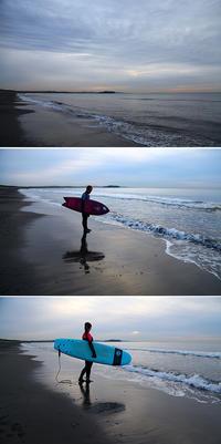 2021/01/05(TUE) 月明かりの様な日の出の中で.......。 - SURF RESEARCH