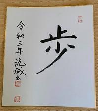 書き初め - 日本の心(団塊の世代)