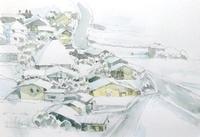 雪に埋もれた村 - ryuuの手習い