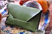 イタリアンレザー・エルバマット・名刺入れ・時を刻む革小物 - 時を刻む革小物 Many CHOICE~ 使い手と共に生きるタンニン鞣しの革
