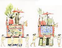 祇園祭の芦刈山(あしかりやま) - 風と雲