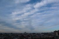 空を覆う高積雲房状雲 - 日々の風景
