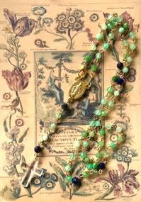 No.1 クリソプレーズ とラピスラズリのロザリオ - Mistletoe