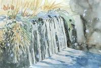 堰に降る雪 - ryuuの手習い