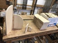 衝立。仕事始めの作業は、 - 手作り家具工房の記録