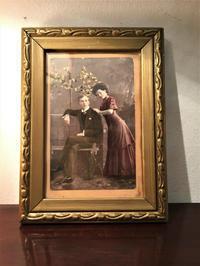 木製金彩小額1022,1023 - スペイン・バルセロナ・アンティーク gyu's shop