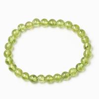 透き通るようなグリーンカラーのペリドットブレスレット - 石の音、ときどき日常