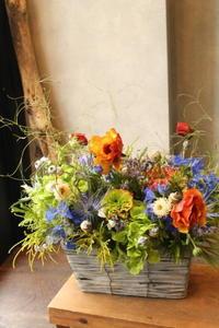 ギフトフラワーご実家へ - 北赤羽花屋ソレイユの日々の花
