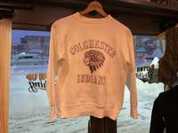 "~60's ""Colchester Indians"" sweat shirt - BUTTON UP clothing"