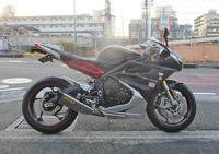 デイトナ675Rのファイナル&プリロード変更&マフラー加工・・・(^^♪ (Part1) - バイクパーツ買取・販売&バイクバッテリーのフロントロウ!