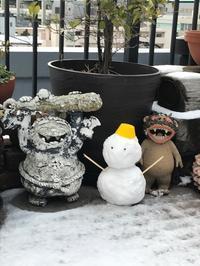 雪だるま - おかげ様でマメだるま