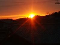 真っ赤な太陽 - 日々の風景