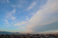 迫る雲の壁棚雲 - 日々の風景