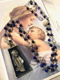 No.6  ラピスラズリと水晶の聖母像ペンダント - Mistletoe