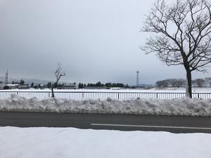 今朝の通勤路 - 内灘日記